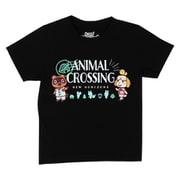 22843139 あつまれどうぶつの森 Tシャツ KIDS ロゴ ブラック 120cm [キャラクターグッズ]
