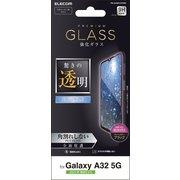 PM-G208FLGFRBK [Galaxy A32 5G/ガラスフィルム/フルカバー/フレーム付き/ブラック]