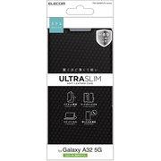 PM-G208PLFUCB [Galaxy A32 5G/レザーケース/手帳型/UltraSlim/薄型/磁石付き/カーボン調(ブラック)]