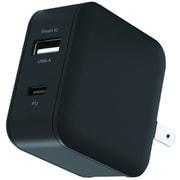 AKJ-18WPD2 BK [USB-Cポート & USB-Aポート PD18W コンセントAC充電器]