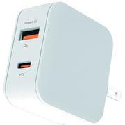 AKJ-20WPD2 WH [USB-Cポート & USB-Aポート PD20W コンセントAC充電器]