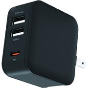 AKJ-20WPD3 BK [USB-Cポート & USB-Aポート PD20W コンセントAC充電器]