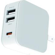 AKJ-20WPD3 WH [USB-Cポート & USB-Aポート PD20W コンセントAC充電器]