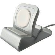 PHDWSDCMP-SV [Apple Watch 1/2/3/4/5/6/SE 全シリーズ対応 スタンド 軽量アルミ合金製 Apple Watch STAND 純正充電ケーブルスタンド対応 ケーブル固定スリット付き 滑り止め付き シルバー]