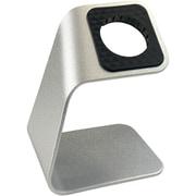 PHDWSDRST-SV [Apple Watch 1/2/3/4/5/6/SE 全シリーズ対応 スタンド 軽量アルミ合金製 Apple Watch STAND 純正充電ケーブルスタンド対応 ケーブル固定スリット付き 底面滑り止め付き シルバー]