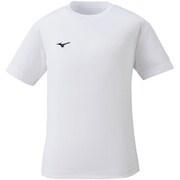 32MA149001 [ナビドライTシャツ(半袖・丸首) キッズ用ウェア 130 ホワイト×ブラック]