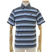 FD5KTG03 M NVY [ゴルフウェア Striped Polo Shirt(ストライプポロシャツ) メンズ Mサイズ ネイビー]