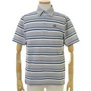 FD5KTG03 M GRY [ゴルフウェア Striped Polo Shirt(ストライプポロシャツ) メンズ Mサイズ グレー]