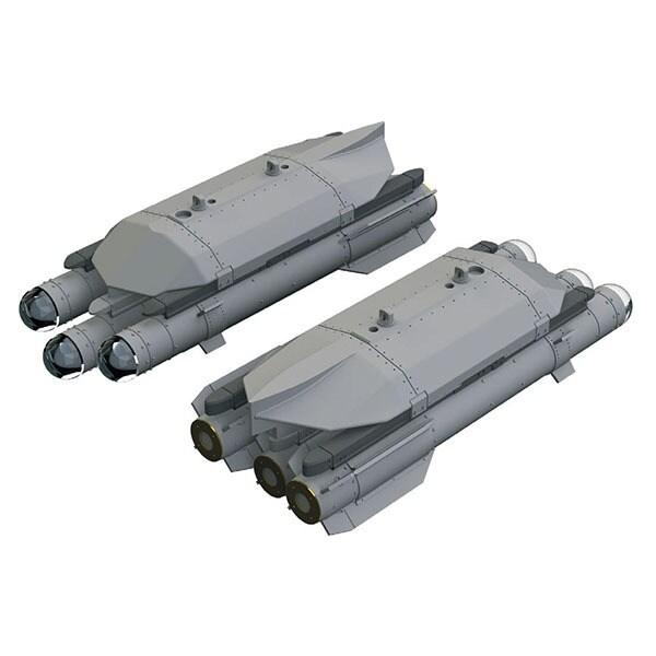 EDU632168 1/32 ブラッシンシリーズ ブリムストーン 空対地ミサイルw/ランチャー (2個入り) [プラモデル用パーツ]