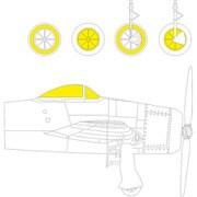 EDUCX598 1/72 マスキングシール F8F-1 塗装マスクシール (ホビーボス用) [プラモデル用品]