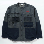 ツキャノンアイルロングスリーブシャツ Tucannon Isle Long Sleeve Shirt PM0058 425 Columbia Navy Sサイズ [アウトドア シャツ メンズ]