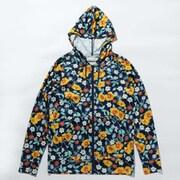 ポーラーパイオニアウィメンズフルジップフーディ Polar Pioneer W Full Zip Hoodie PL3170 Blue Shadow Flower Print 415 Mサイズ [アウトドア スウェット レディース]