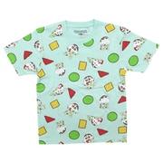 22843084 クレヨンしんちゃん KIDS パジャマ総柄 Tシャツ SAX 150cm [キャラクターグッズ]