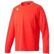ワンポイントロングスリーブシャツ DMC-5801LB (ORG)オレンジ XOサイズ [スポーツウェア 長袖Tシャツ ユニセックス]
