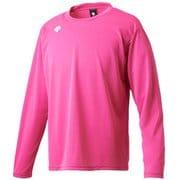 ワンポイントロングスリーブシャツ DMC-5801LB (PNK)ピンク XOサイズ [スポーツウェア 長袖Tシャツ ユニセックス]