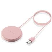 W-QA16PN [ケーブル一体型 Qi規格対応ワイヤレス充電器 5W・卓上・1m ピンク]
