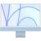 Apple iMac 24インチ Retina 4.5Kディスプレイ Apple M1チップ/8コアCPU/7コアGPU/SSD 256GB/メモリ 8GB/ブルー [MJV93J/A]