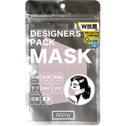 ANDM03-L-SAK [ANYe(エニー) デザイナーズパックマスク レディース 洗えるマスク 日本製 持続冷感 抗菌 防臭 360度ストレッチ性能付き サクラ]