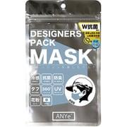 ANDM03-K-BLU [ANYe(エニー) デザイナーズパックマスク キッズ 洗えるマスク 日本製 持続冷感 抗菌 防臭 360度ストレッチ性能付き ブルー]