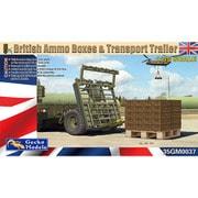 GEC35GM0037 イギリス軍 弾薬箱w/パレット&トレーラーセット [1/35スケール プラモデル]