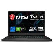 GP76-11UG-322JP [リフレッシュレート240Hz液晶パネル搭載 大画面・ハイスペックゲーミングノートPC 17.3インチ/インテル Core i7-11800H/NVIDIA GeForce RTX 3070 Laptop GPU/メモリ 16GB/SSD 1TB/Windows 10 Home]