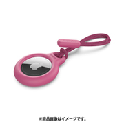 F8W974btPNK [AirTag用ストラップ保護ケース(ピンク)]