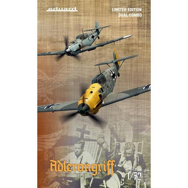 EDU2136 1/72 エアクラフトシリーズ Bf109E アドラーアングリフ作戦 デュアルコンボ リミテッドエディション [組立式プラスチックモデル]