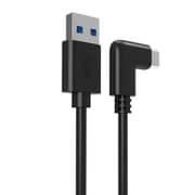 AOK-USBACL5M [USB3.1 TypeA to C L型ケーブル 5m 3A ブラック Oculus Quest 2/Oculus Link対応]