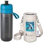 KBACCB1G [ボトル型浄水器アクティブ WWFジャパン コラボ ボトルカバー付き ブルー(イルカ)]