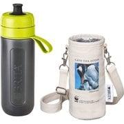KBACCL1G [ボトル型浄水器アクティブ WWFジャパン コラボ ボトルカバー付き ライム(ジェンツーペンギン)]