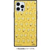SIM-06A [iPhone 12/12 Pro 用 スクエアガラスケース ザ・シンプソンズ 総柄]