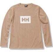 ロングスリーブロゴティー L/S Logo Tee HE32170 パインバーク(PI) WMサイズ [アウトドア カットソー レディース]