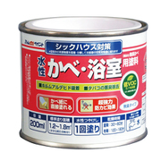 水性かべ・浴室用塗料(無臭かべ)200ML 白