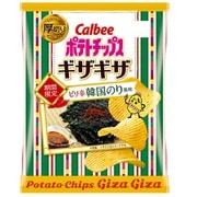 ポテトチップスギザギザピリ辛韓国のり風味 58g