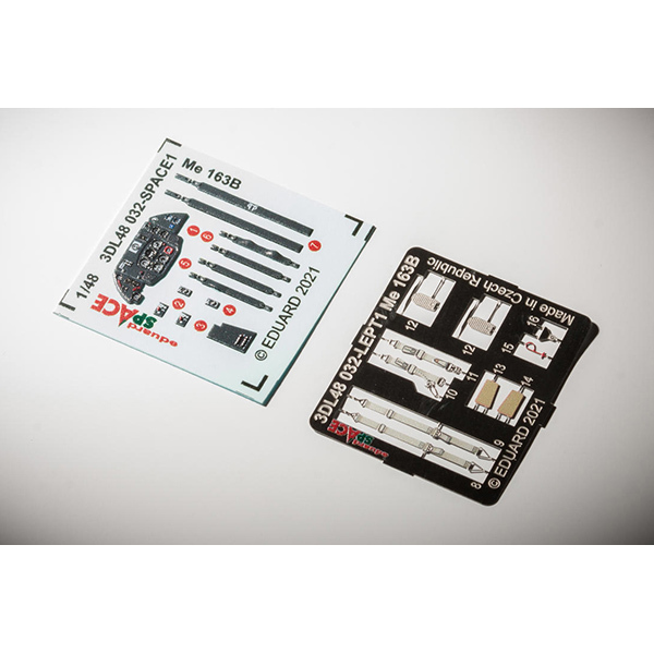 EDU3DL48032 1/48 Me163B スペース 内装3Dデカール w/エッチングパーツ セット (ガスパッチ用) [プラモデル用品]