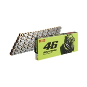 520VR46 ROSSI MODEL‐120ZB SILVER&GOLD カラー:SILVER&GOLD サイズ:120L [バイク用チェーン]