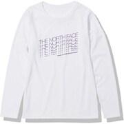 ロングスリーブフェイデッドTNFティー L/S Faded TNF Tee NTW82181 ホワイト(W) Sサイズ [アウトドア カットソー レディース]