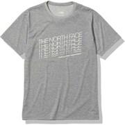 ショートスリーブフェイデッドTNFティー S/S Faded TNF Tee NT82182 ミックスグレー(Z) Lサイズ [アウトドア カットソー メンズ]