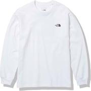 ロングスリーブバックスクエアロゴティー L/S Back Square Logo Tee NT82131 ホワイト(W) Lサイズ [アウトドア カットソー メンズ]