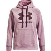 ライバルフリース ロゴフーディー Rival Fleece Logo Hoodie 1356318 Brown(783) SMサイズ [フィットネス ジャケット レディース]