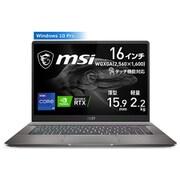 CREATORZ16A11UET-010JP [タッチ機能対応WQXGA液晶パネル搭載 超薄型クリエイターノートPC 16インチ/インテル Core i9-11900H/NVIDIA GeForce RTX 3060 Laptop GPU/メモリ 32GB/SSD 1TB/Windows 10 Pro]