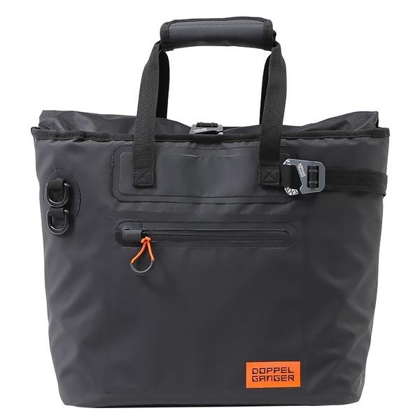 DBT510-BK [バイク用ターポリンシングルサイドトートバッグ(バイク用サイドバッグ)防水ターポリン仕様・簡単着脱フック・トートバッグ型 ブラック]
