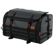 DBT523-BK [バイク用キャンプツーリングシートバッグ (バイク専用・防水ツーリングバッグ) 容量60~80L 防水インナーバッグ・ショルダーベルト・固定ベルト付き ブラック]