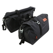 DBT576-BK [バイク用ターポリサイドバッグ25(250ccスポーツバイク専用の防水サイドバッグ) 容量25L サポートベルト・ハングベルトA・ハングベルトB付き ブラック]