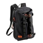 DBT608-BK [バイク用モトバックパック メットイン(バイク用クロロプレン素材バックパック) 容量28L ヘルメット収納可能 コンプレッションバックル付属 ブラック]