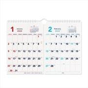 203613-01 [限定 2022 A4 2ヶ月カレンダー ホワイト]