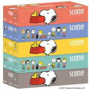 スコッティ ティシュー スヌーピー 160組 5箱パック