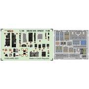 EDU3DL48040 1/48 スペース シリーズ F-4B 内装3Dデカール w/エッチングパーツセット (タミヤ用) [プラモデル用品]