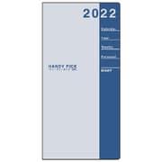 E1088 [限定 2022年1月始まり Handy pick(ハンディピック)ダイアリー スモールサイズ 見開き2週間 薄型 淡ブルー]