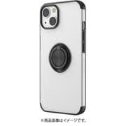 AC-P21-MR BK [iPhone 13用 メタリックフレーム リング付きクリアバックカバー ブラック]